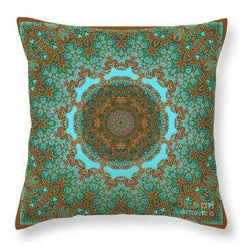 Spiritual Art - Diaphanous Moods Mandala By Rgiada   Throw Pillow by Giada Rossi