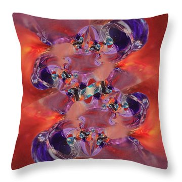 Throw Pillow featuring the digital art Spiritual Dna by Margie Chapman