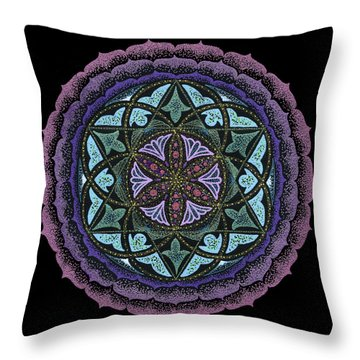 Spiritual Heart Throw Pillow by Keiko Katsuta