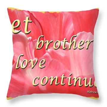 Spiritual Love - Bordered Throw Pillow