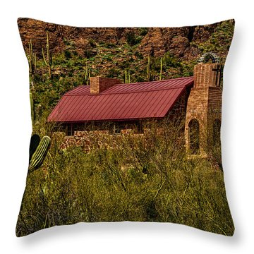 Throw Pillow featuring the photograph Spiritual Oasis by Mark Myhaver