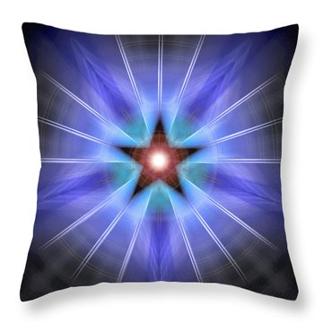 Throw Pillow featuring the drawing Spiritual Pulsar by Derek Gedney