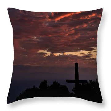 Throw Pillow featuring the photograph Spiritual Retreat by Michael Gordon