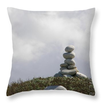 Spiritual Rock Sculpture Throw Pillow by Bev Conover