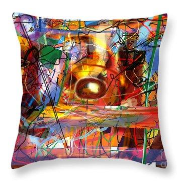 Spiritual Understanding 3 Throw Pillow by David Baruch Wolk