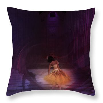 Spiritual Vortex Throw Pillow by Kylie Sabra