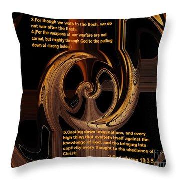 Spiritual Warfare Throw Pillow by Wayne Cantrell
