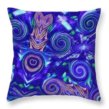 Spiritual Waters Throw Pillow by Alec Drake