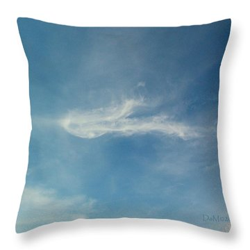 Sylph Elemental Throw Pillow by Deborah Moen