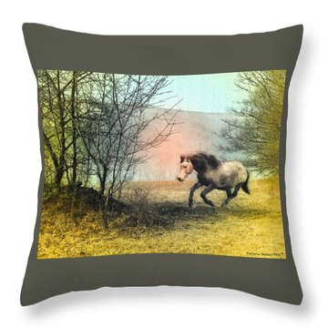 Spiritus Equus Throw Pillow by Patricia Keller