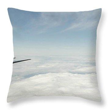 Spitfire Ace Throw Pillow by J Biggadike