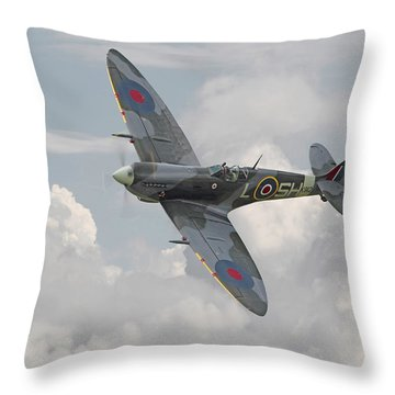 Spitfire - Elegant Icon Throw Pillow by Pat Speirs