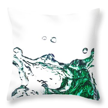 Splash 11 Throw Pillow