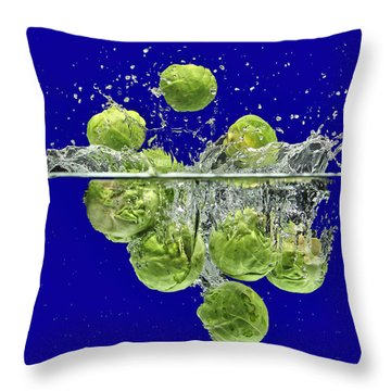 Splash-brussels Sprouts Throw Pillow