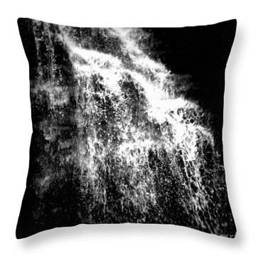 Splash Bushkill Falls Throw Pillow