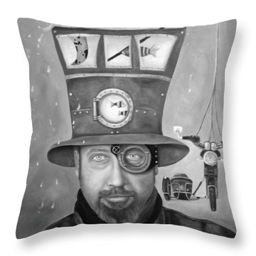 Splash Bw 2 Throw Pillow by Leah Saulnier The Painting Maniac