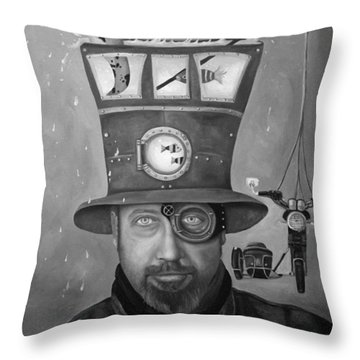 Splash Bw Throw Pillow by Leah Saulnier The Painting Maniac