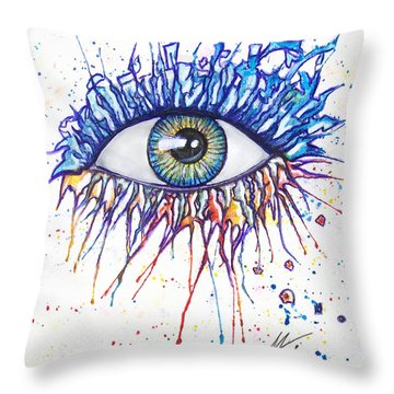 Splash Eye 1 Throw Pillow