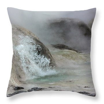 Splash From Grotto Geyser Throw Pillow