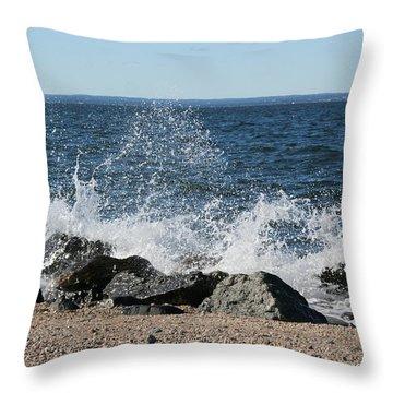Splash Throw Pillow by Karen Silvestri