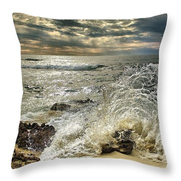 Splash N Sunrays Throw Pillow