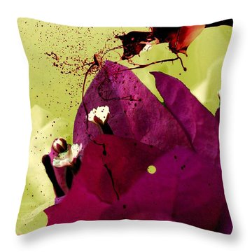 Throw Pillow featuring the photograph Splash Of Beauty by Irma BACKELANT GALLERIES