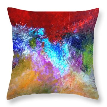 Splash Of Blue Throw Pillow by Mary Jo Zorad