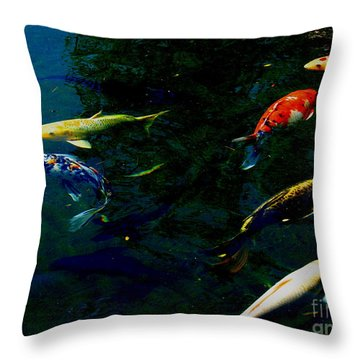 Splash Of Color Throw Pillow by Greg Patzer