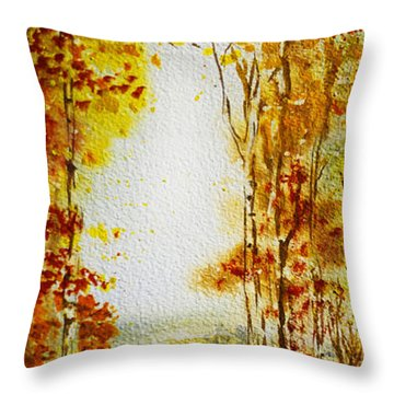 Splash Of Fall Throw Pillow by Irina Sztukowski