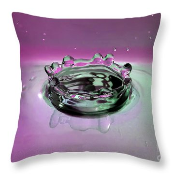 Splash Of Purple Throw Pillow