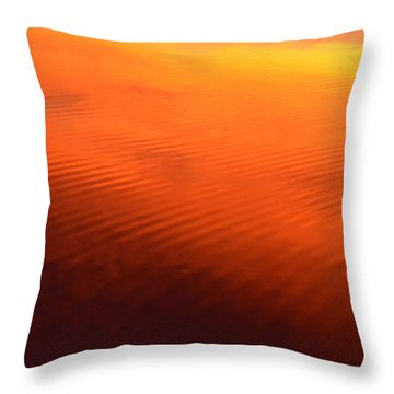 Throw Pillow featuring the photograph Splash Of Sunset  by Cindy Greenstein