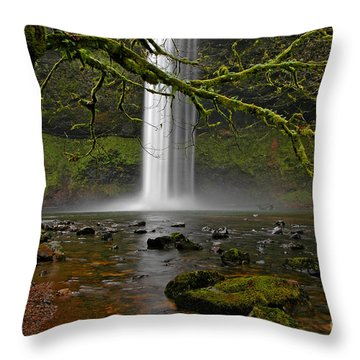 Throw Pillow featuring the photograph Splash Pool by Nick  Boren