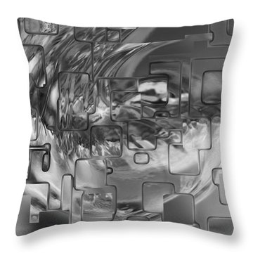 Splash Squared Throw Pillow by Jack Zulli