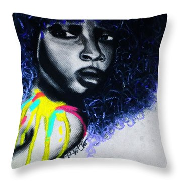 Throw Pillow featuring the painting Splash by Tarra Louis-Charles