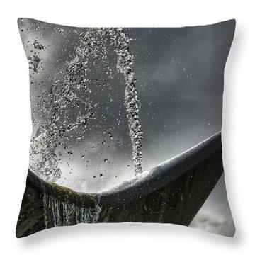 Splash Throw Pillow by Wayne Sherriff