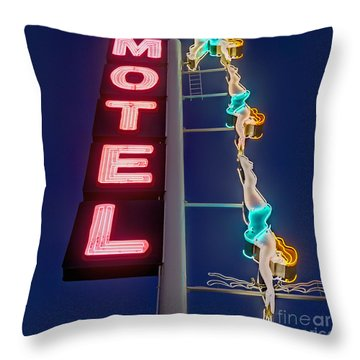 Splashdown Motel Throw Pillow