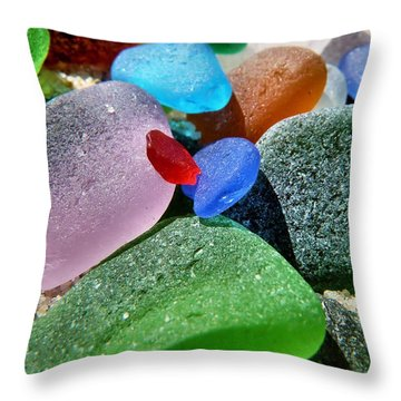 Throw Pillow featuring the photograph Splashes Of Color by Janice Drew