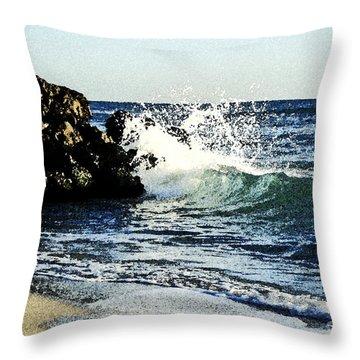 Splashing Wave Throw Pillow