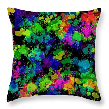 Throw Pillow featuring the photograph Splatter by Mark Blauhoefer