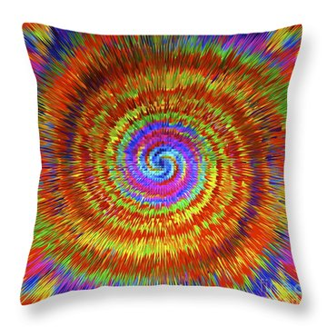 Splattered Lines Throw Pillow by Michael Anthony
