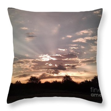 Splendid Rays Throw Pillow