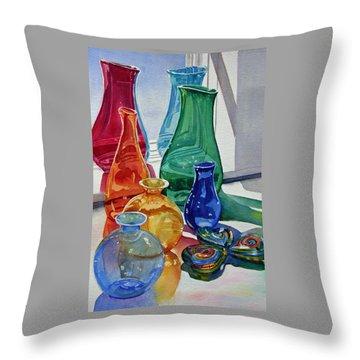 Splendor In The Glass Throw Pillow