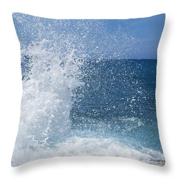 Throw Pillow featuring the photograph Splash by Jean Marie Maggi