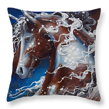 Splish Splashed My Paint Throw Pillow