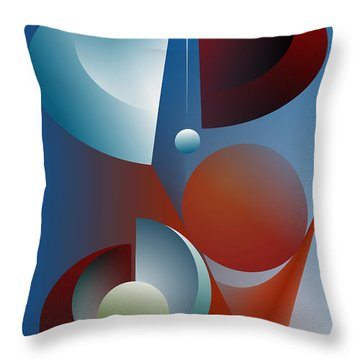 Split Cycle Throw Pillow by Leo Symon