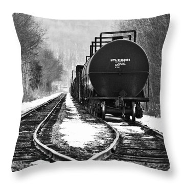 Split Decision Throw Pillow