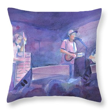 Split Lip Rayfield Wakarusa 2005 Throw Pillow