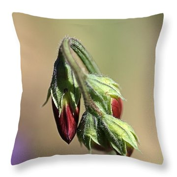 Throw Pillow featuring the photograph Split Pea by Joy Watson
