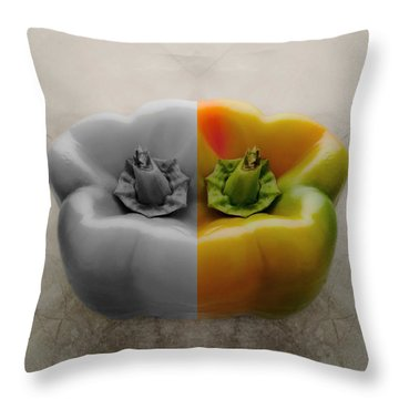 Split Pepper Throw Pillow