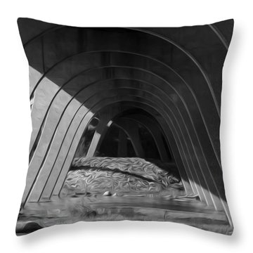 Split Shade Throw Pillow by Kelvin Booker